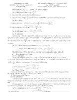 đề thi thử đại học lần 1 môn toán khối a, b năm 2014 - trường thpt thuận thành số 1