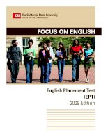 Focus on English English Placement Test (EPT) 2009 Edition pdf