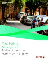 Total Parking Management Parking is only the start of your journey pptx