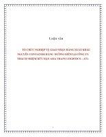 Luận văn: TỔ CHỨC NGHIỆP VỤ GIAO NHẬN HÀNG XUẤT KHẨU NGUYÊN CONTAINER BẰNG ĐƯỜNG BIỂNTẠI CÔNG TY TRÁCH NHIỆM HỮU HẠN ASIA TRANS LOGISTICS – ATL ppt