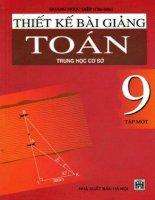 thiết kế bài giảng toán 9 tập 1