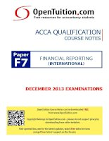 opentuition acca paper f7 december 2013