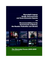 Chernobyl's Legacy: Health, Environmental and Socio-Economic Impacts and Recommendations to the Governments of Belarus, the Russian Federation and Ukraine pdf