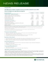 Old Mutual plc Interim results for the six months ended 30 June 2012 Good strategic and operational progress ppt