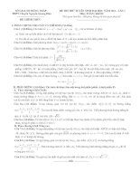 đề thi thử đại học lần 1 môn toán khối d năm 2014 - trường thpt chuyên nguyễn quang diêu