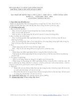 MA TRẬN ĐỀ KIỂM TRA 1 TIẾT LẦN 3 – HỌC KỲ 2 – MÔN TIẾNG ANH KHỐI 11 – NĂM HỌC: 2011 - 2012 (CHƯƠNG TRÌNH CHUẨN ) Mã đề 169 ppt