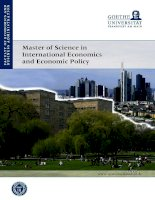 Master of Science in International Economics and Economic Policy docx