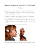 Cha mẹ cần lưu ý khi dùng thuốc chữa biếng ăn cho trẻ pptx
