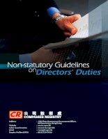 Non-statutory Guidelines onDirectors'''' Duties doc