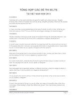 Tổng hợp đề thi IELTS tại Việt Nam 2013