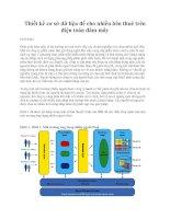Thiết kế cơ sở dữ liệu để cho nhiều bên thuê trên điện toán đám mây docx