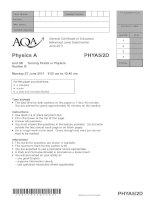 Vật lý A level: AQA PHYA5 2d w QP JUN11