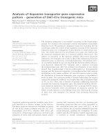Báo cáo khoa học: Analysis of dopamine transporter gene expression pattern ) generation of DAT-iCre transgenic mice doc