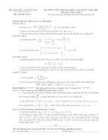 đề thi đại học môn toán khối a 2008