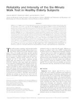 Reliability and Intensity of the Six-Minute Walk Test in Healthy Elderly Subjects docx