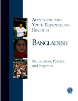 ADOLESCENT AND YOUTH REPRODUCTIVE HEALTH IN BANGLADESH pptx
