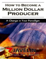 How to be a Million dollar producer pptx