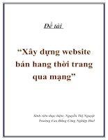 """Đề tài """"Xây dựng website bán hang thời trang qua mạng"""" pptx"""