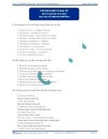 Cấp so sánh và đại từ (đáp án bài tập tự luyện) ppt