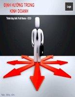 Mẫu slide powerpoint định hướng trong kinh doanh