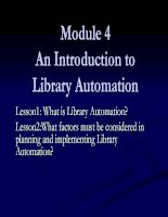 Module 4An Introduction to Library Automation ppt