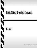 Object oriented programming with C++ - Session 1 - Basic Object Oriented Concepts doc