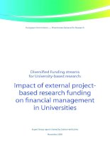 Diversified Funding streams for University-based research: Impact of external project- based research funding on financial management in Universities docx