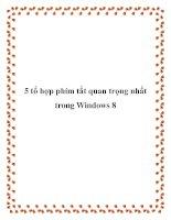 5 tổ hợp phím tắt quan trọng nhất trong Windows 8 docx
