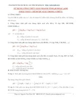 công thức tính ph và poh trong đề thi đại học môn hóa