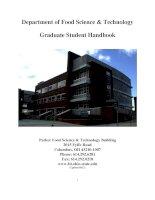 Department of Food Science & Technology Graduate Student Handbook docx