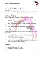 Build Your Bones, Girlfriend! National Health Education Standard potx