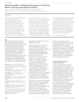 Global Health in Medical Education: A Call for More Training and Opportunities pptx