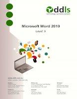 Microsoft Word 2010 Level 3 potx