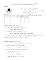 18 đề thi giữa kỳ 2 tiếng việt lớp 1