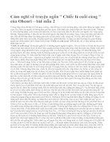 """Cảm nghĩ về truyện ngắn  """" Chiếc lá cuối cùng """" của Ohenri – bài mẫu 2"""