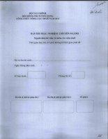 Đề thi công chức năm 2012 chuyên ngành chuyên viên và kiểm tra thuế: Đề chẵn pot