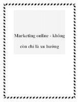 Marketing online - không còn chỉ là xu hướng pot