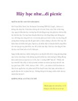 Hãy học như...đi picnic pot