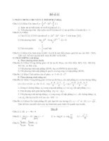 Đề ôn thi tốt nghiệp trung học phổ thông môn toán - Đề 41 potx