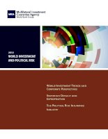 World Investment and Political Risk 2012 - World Investment Trends and Corporate Perspectives (Law, Justice, and Development Series) pdf