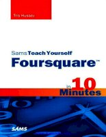 Sams Teach Yourself Foursquare in 10 Minutes docx