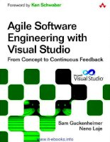 Agile Software Engineering with Visual Studio: From Concept to Continuous Feedback potx