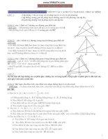 các dạng toán hình học luyện thi đại học