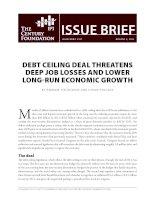 DebT ceiling Deal ThreaTens Deep job losses anD lower long-run economic growTh pdf