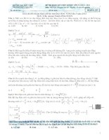 ĐỀ THI KHẢO SÁT CHẤT LƯỢNG LỚP 12 – LẦN III NĂM 2013 Trường Đại Học Vinh Môn: VẬT LÝ - Mã đề thi 278 ppt