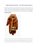 Nghệ thuật kinh doanh – Giữ chân khách hàng cũ pot