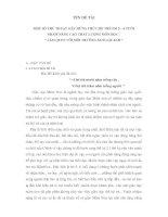 """TÊN DỀ TÀI MỘT SỐ THỦ THUẬT GÂY HỨNG THÚ CHO TRẺ EM 5 – 6 TUỔI NHẰM NÂNG CAO CHẤT LƯỢNG MÔN HỌC : """" LÀM QUEN VỚI MÔI TRƯỜNG XUNG QUANH """" docx"""