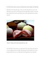 Cách làm bánh sakura mochi, một loại bánh truyền thống của Nhật Bản Bánh Mochi với nhận đậu ngọt và kem tươi bên trong pptx