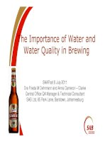 The Importance of Water and Water Quality in Brewing pptx