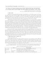SỰ TÍCH LUỸ MỘT SỐ KIM LOẠI NẶNG TRONG ĐẤT DO ẢNH HƯỞNG CỦA NƯỚC THẢI LÀNG NGHỀ TÁI CHẾ NHÔM YÊN PHONG - BẮC N doc
